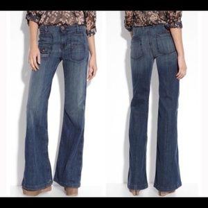 7FAM Georgia Flare Bottom High Rise Jeans